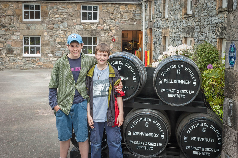 Boys at Glenfiddich