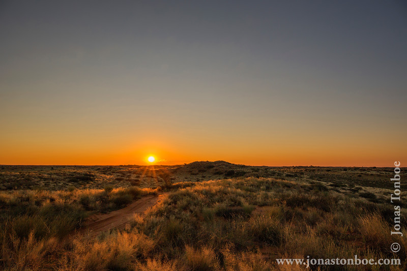 Sunset Over the Kalahari Desert
