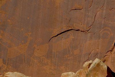 Petroglyphs left by the Anastazi