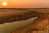 Waterhole at Sunset