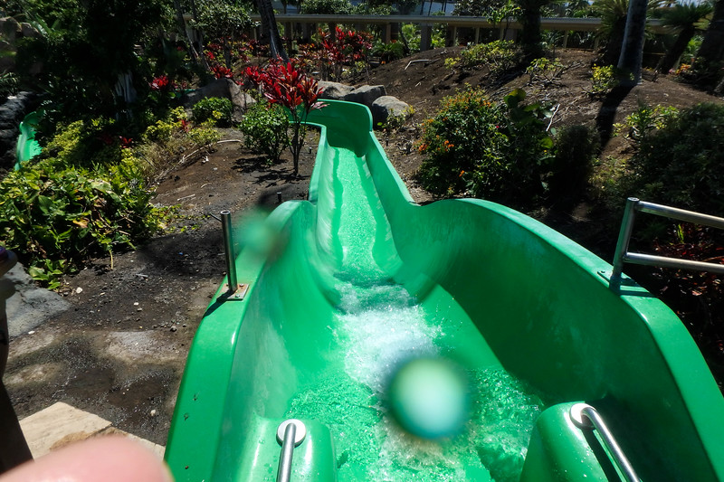 Pool slide, Hilton Waikokoa, Waikaloa Village, HI