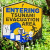 Entering tsunami evacuation area, Waipi'o Valley, Honokaa, HI