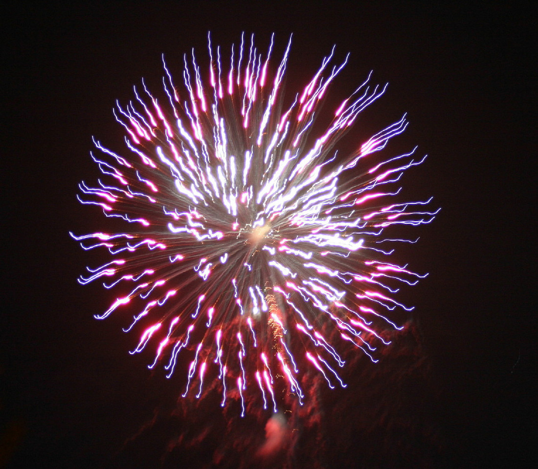 4 TH OF JULY FIRE WORKS AT PORT ANGELES , WASHINGTON STATE ; JULY 2004