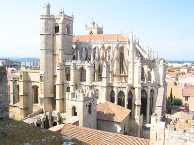 Flying buttress church in France