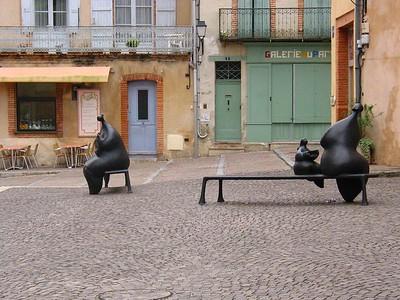 Three statues in Moissac