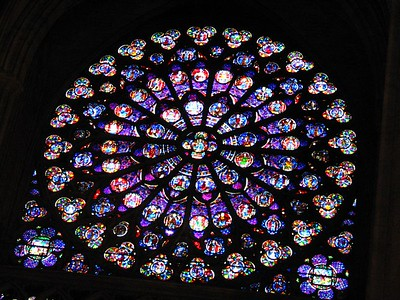 The rose window at Notre Dame