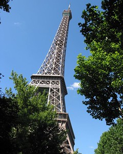 Eiffle Tower with trees