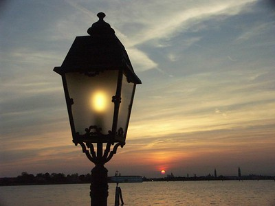 Lamp post with Venice in the background (taken from Lido Island) - sold multiple copies at every fair it's been shown so far