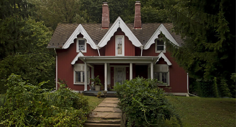 Victorian House Photographed by Walker Evans, Easton, PA 2008