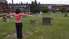 Amey Senape Posing as the Missing Stone Cross, Bethlehem, PA 2008