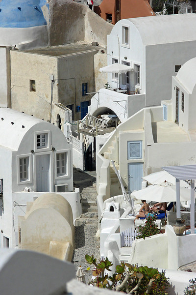 Nude sunbathers on Santorini<br /> ...haha, made you look twice..