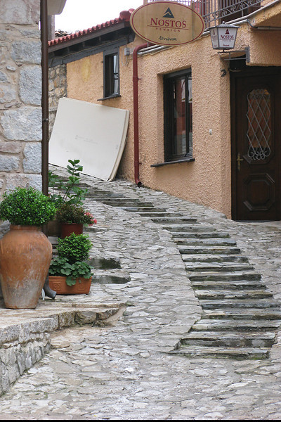 Ally way in Arachova.  Liked the steps.