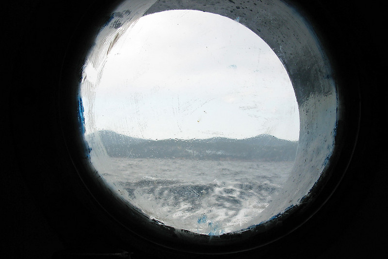 Can you say below decks??  This was the view from my cabin....