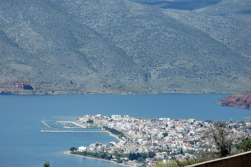 Distance of View of Itea (Eetay-a).  Our first lunch stop after leaving Athens.