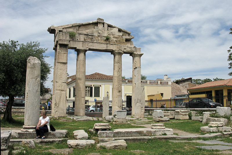 In the ancient Roman Agora