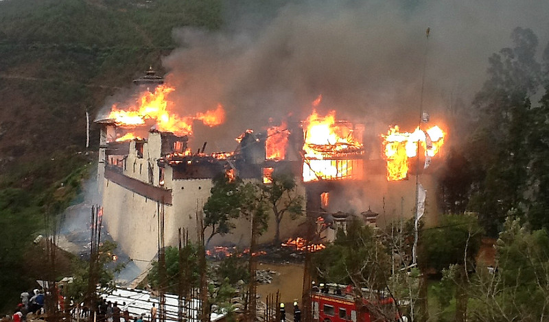 Wangdu also suffered a major fire, after my visit.