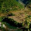 Buddhist chorten above Punakha Valley.