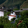 Wangdu Phodrang was built in 1650 above the Punak Chhu River.