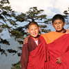 Monks on trail to Tango Monastery