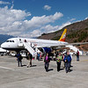 Arrival in Bhutan - Druk Air, Royal Bhutan Airlines
