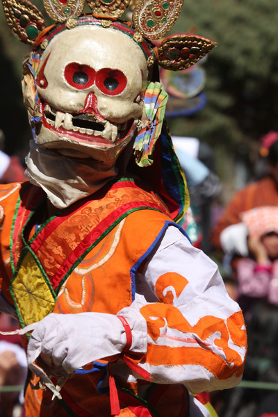 Masked dancer at Jambey Lhakhang Drub Festival - Jakar, Bumthang Valley