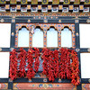 Hanging chilies, downtown Paro