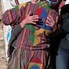 Tourist gets a hug at Prakhar Lhakhang Festival
