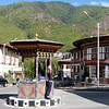 Traffic control, downtown Thimphu