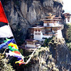 Taktsang Monastery with prayer flags