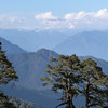 Dochu La - mountain pass between Thimphu and Punakha