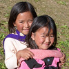 Young girls near Gangtey