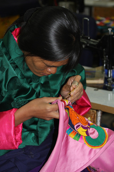 School of Arts & Painting, Thimphu - needlework