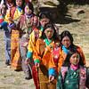 Procession - Prakhar Lhakhang Festival, outside Jakar, Bumthang Valley