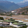 Paro Airport with Paro Dzong in the background