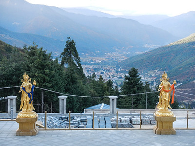 Overlooking Thimphu Valley.
