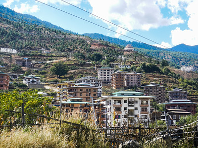 Multi storied homes in Thimphu.