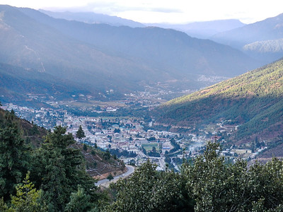 Beautiful view Thimphu Valley.