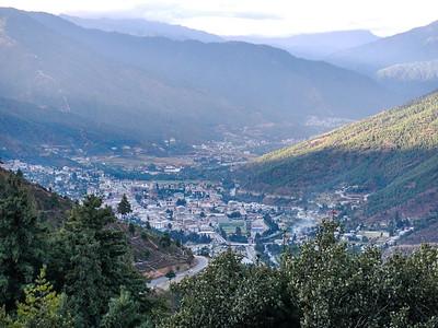 Beautiful view Thimphu Valley.