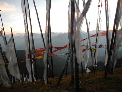 Prayer flags  - clouds, fire and earth.
