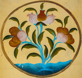 Floral wall painting.