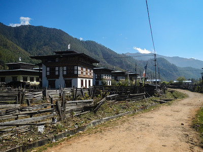 Typical Bhutanese farm houses.