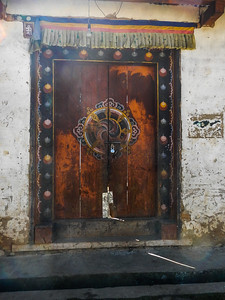 Ornate entrance door.