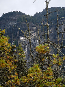 First up-close view of the Taktsang Palphug Monastery (Tigers Nest).