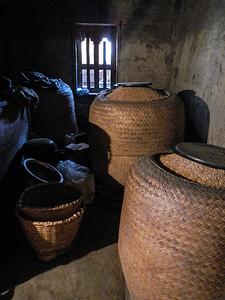 Rice storage.