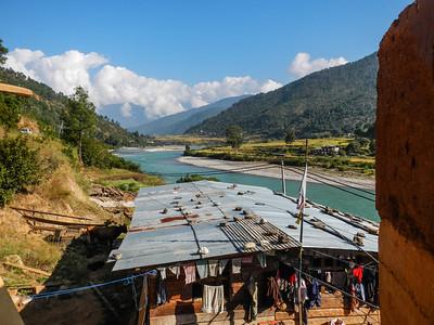 Punakha Valley view.