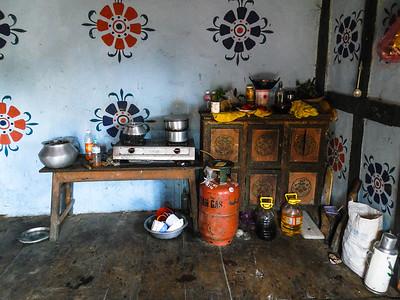 Kitchen space.