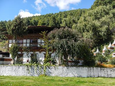 Kurjey Lhakhang complex. Chhoekhor , Bumthang, Bhutan.