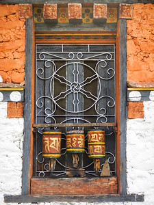 Small prayer wheels.