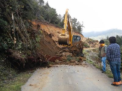 Man made landslide.