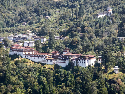 View of Trongsa Dzong.